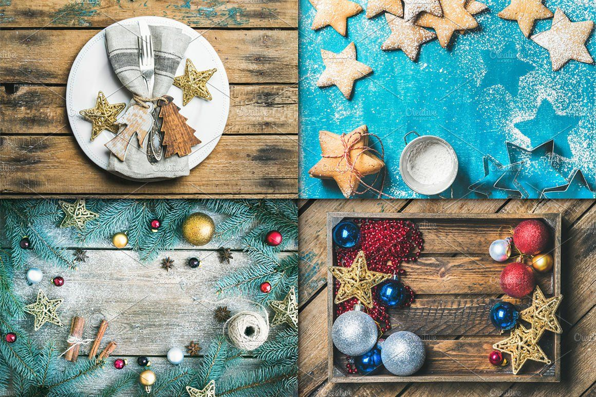 Christmas Foods & Backgrounds by Foxys on @creativemarket
