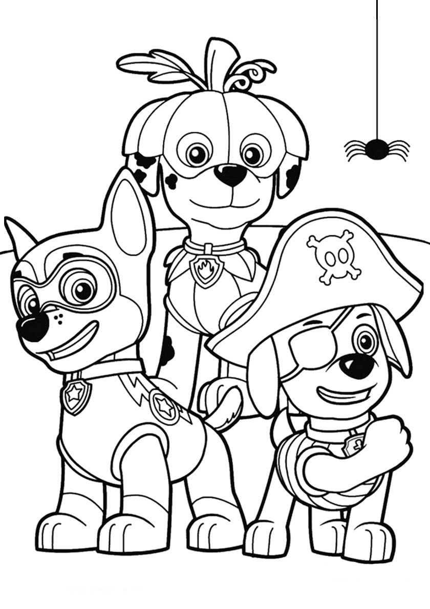 Halloween Paw Patrol - high-quality free coloring from the ...