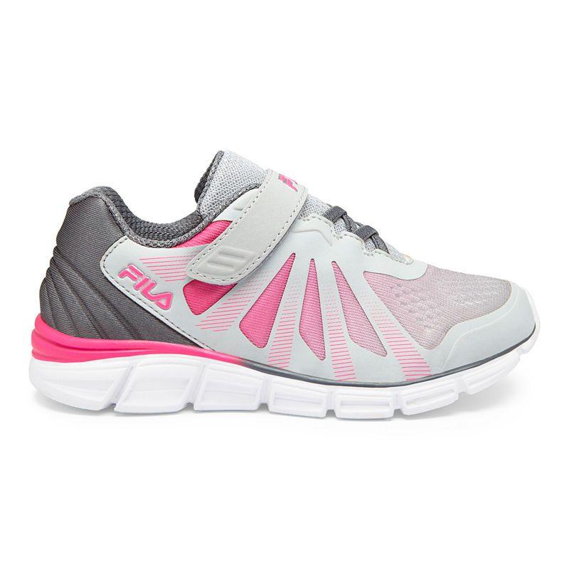 d7d576580135 Fila Fraction 2 Strap Glitter Girls Running Shoes Hook and Loop ...