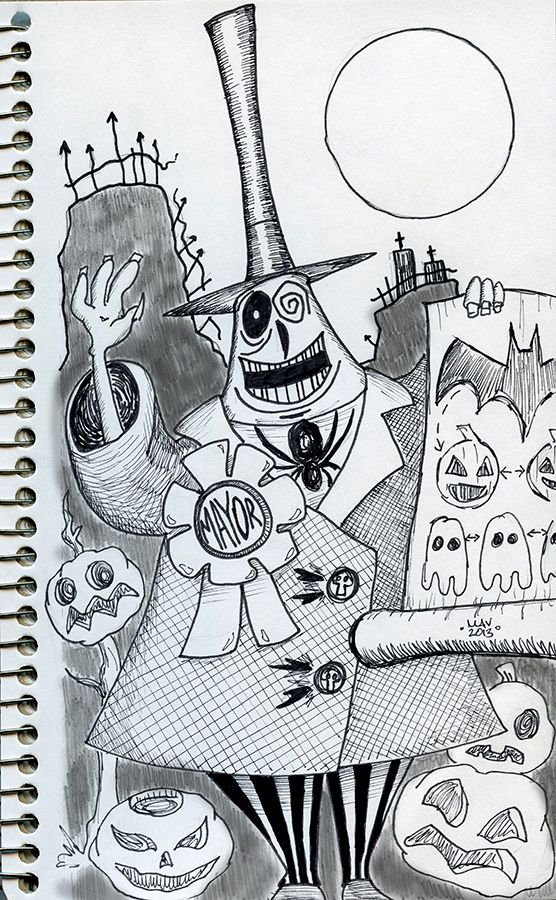 The Mayor Of Halloweentown From The Nightmare Before Christmas Daily S Nightmare Before Christmas Drawings Nightmare Before Christmas Mayor Christmas Drawing