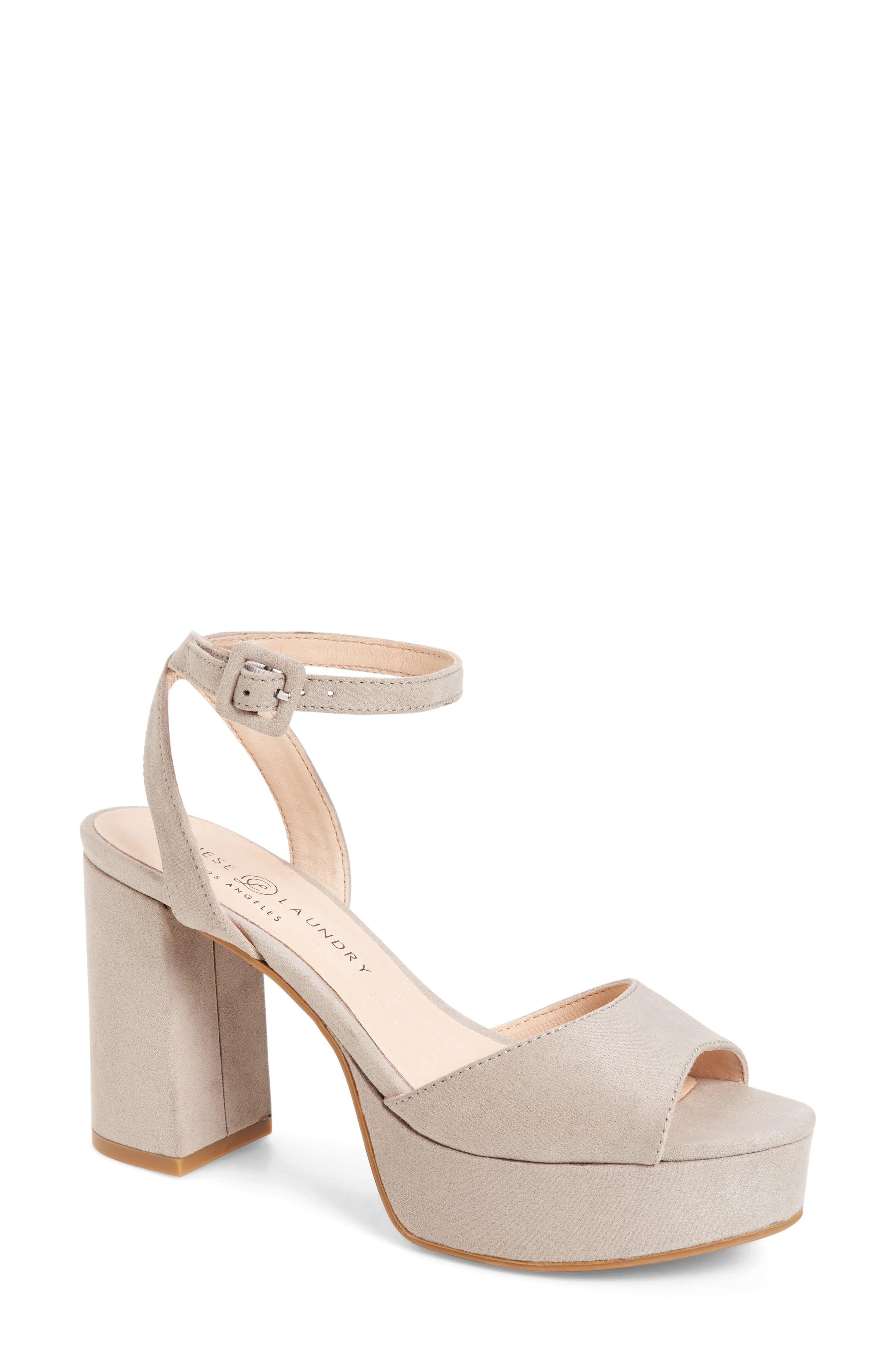 Women S Chinese Laundry Theresa Platform Sandal Size 7 M Grey