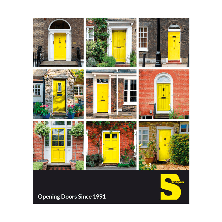 Yellow Front Doors Real Estate Postcard Marketing Real Estate