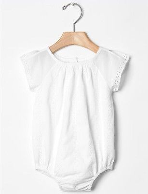 a30fed0f748 Details about GAP Baby Girl Size 6-12 Months NWT White Eyelet One ...