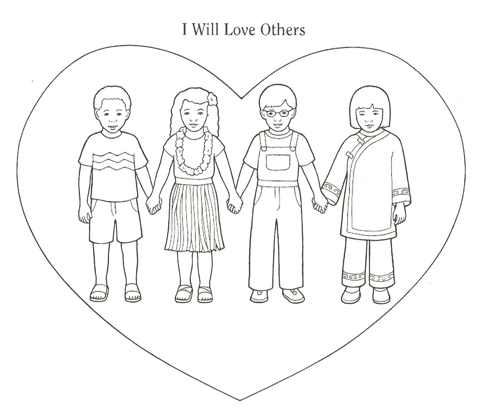 Primary 3 Manual Lesson 31 Jesus Christ Wants Us To Love Everyone Journal Page Coloring