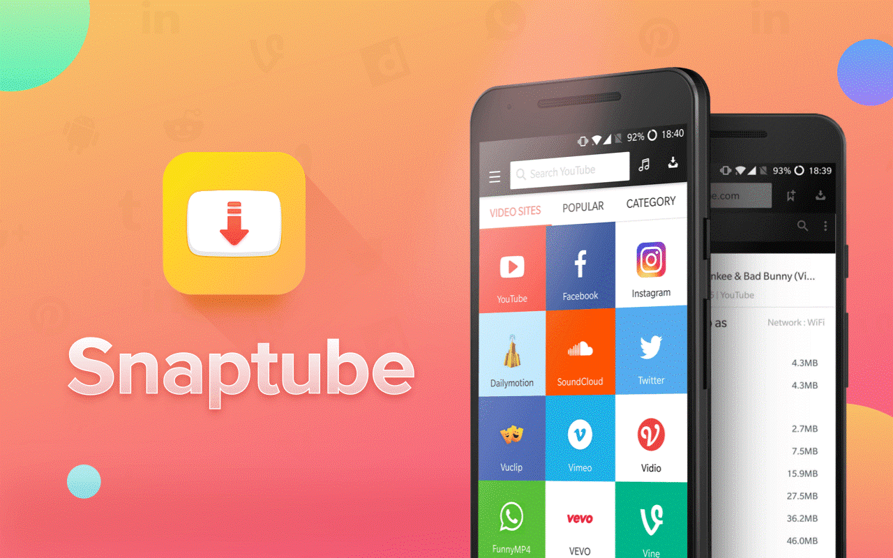 Snaptube apk Video and Music Download free current v 4.45