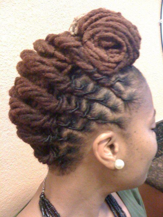 Lock Updo Hairstyles Natural Notts Hair Pinterest Updo Locs