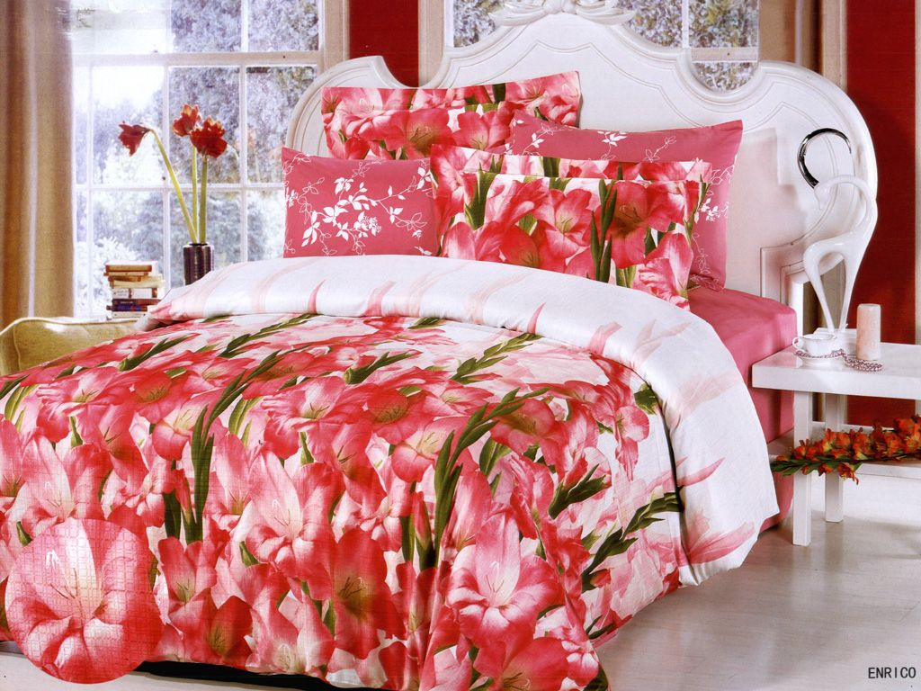 Pink bed sheet design - Wed First Night Romantic Bed Sheet Design