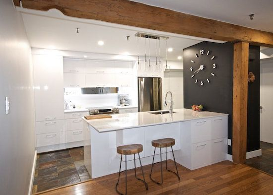 La cuisine blanche et bois en 102 photos inspirantes Salons
