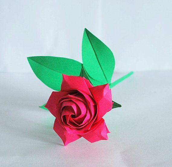Anniversary rose origami rose paper rose flower by artenjoyment anniversary rose origami rose paper rose flower by artenjoyment mightylinksfo