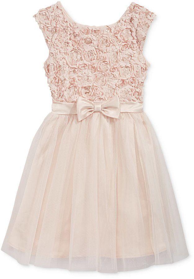 b9f14654f6f Pink   Violet Embellished Soutache Floral Dress