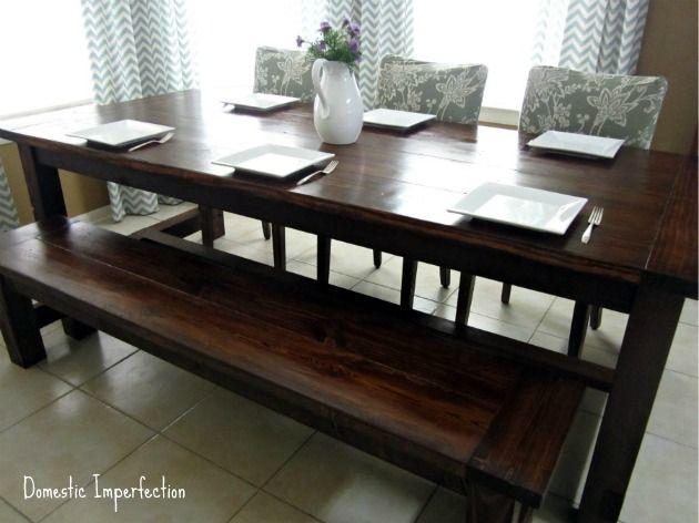 diy farmhouse table and bench home diy diy farmhouse table diy rh pinterest com