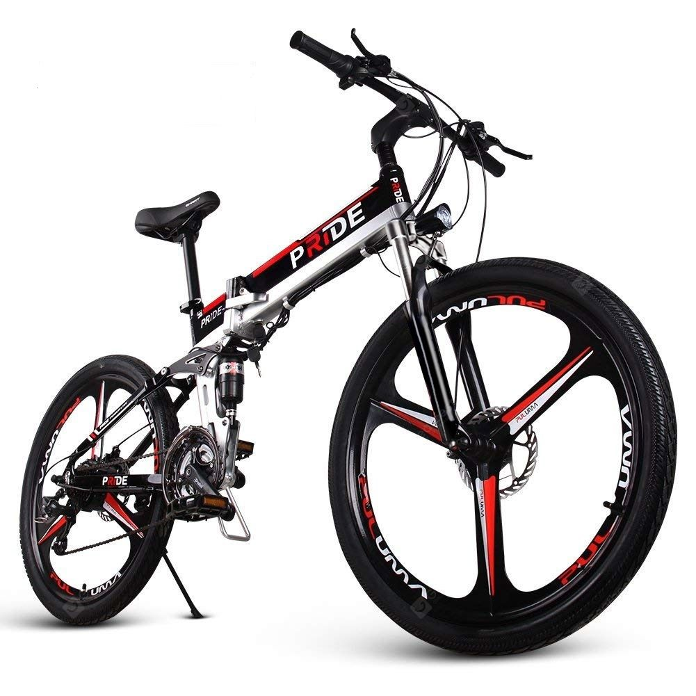 Buy Engwe Folding Full Suspension Electric Bike With Integrated Wheel Dual Disc Sale Ends Electric Mountain Bike Electric Bike Folding Electric Mountain Bike