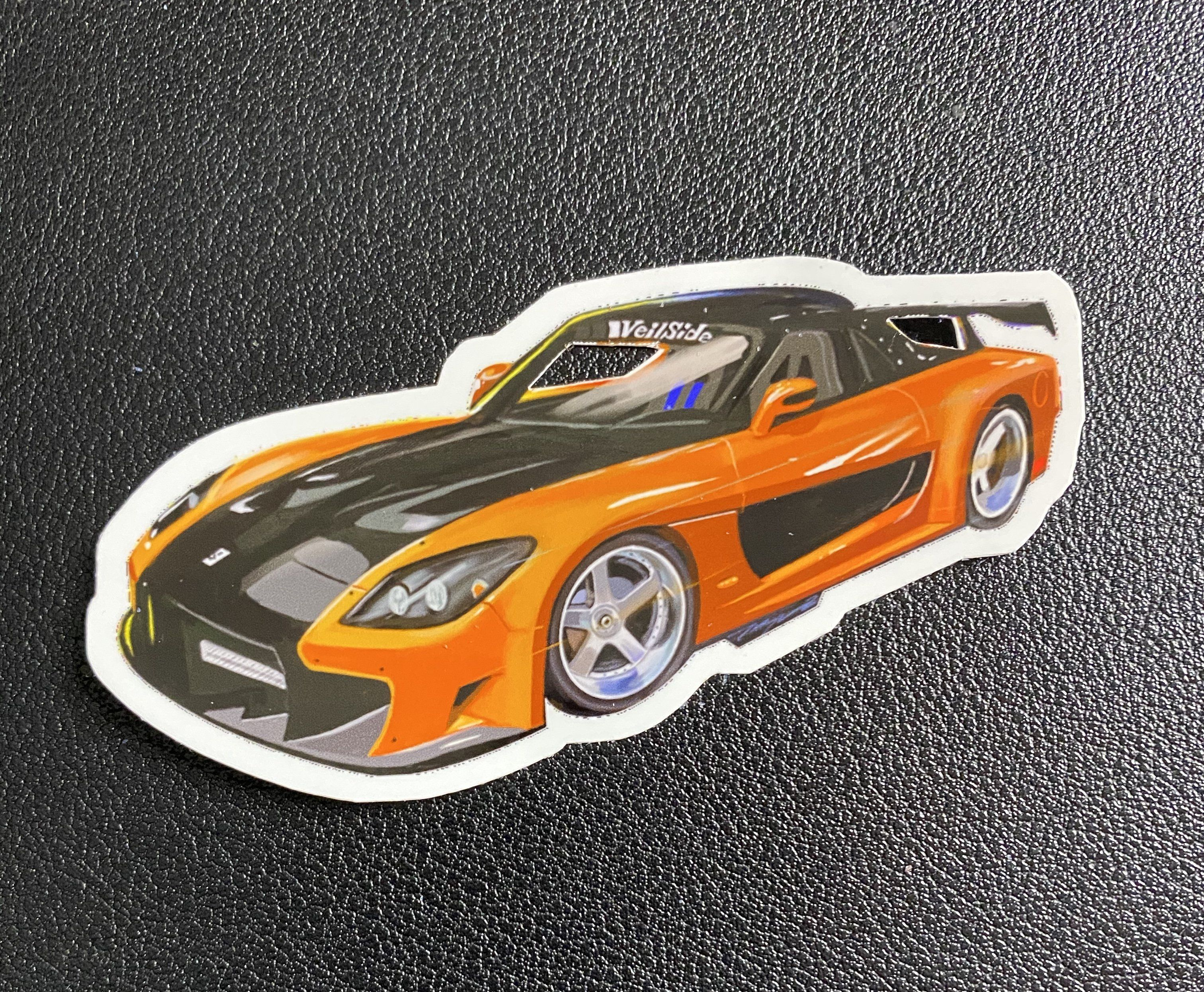 The Fast And Furious Han S Mazda Rx 7 Sticker Mazda Rx7 Mazda Fast And Furious [ 2492 x 3024 Pixel ]
