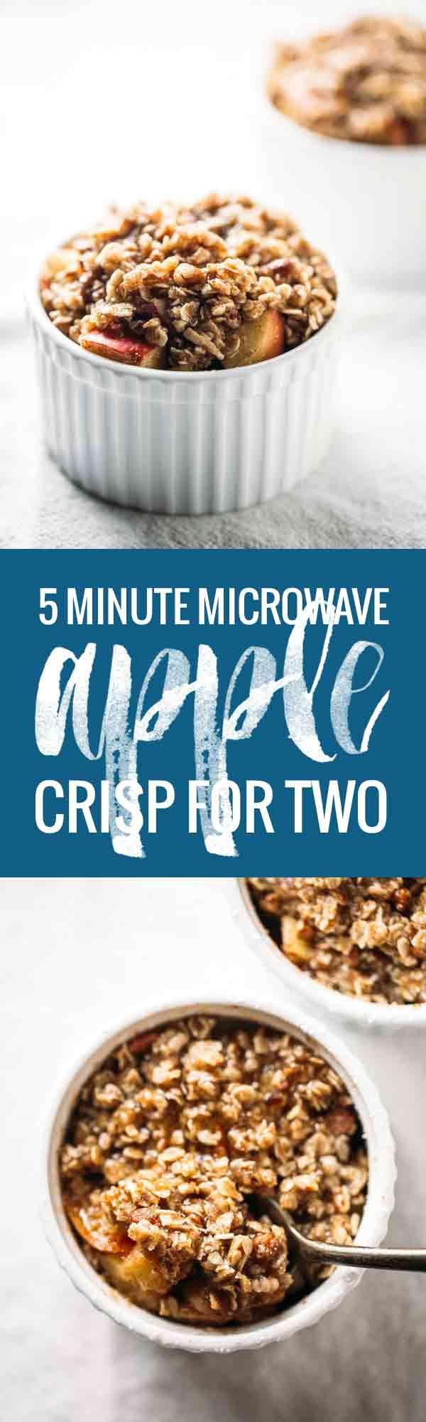 Cinco Minutos sola porción de Apple Nítido - rematado con un delicioso aceite de coco sana, pacana, y crumble de avena.