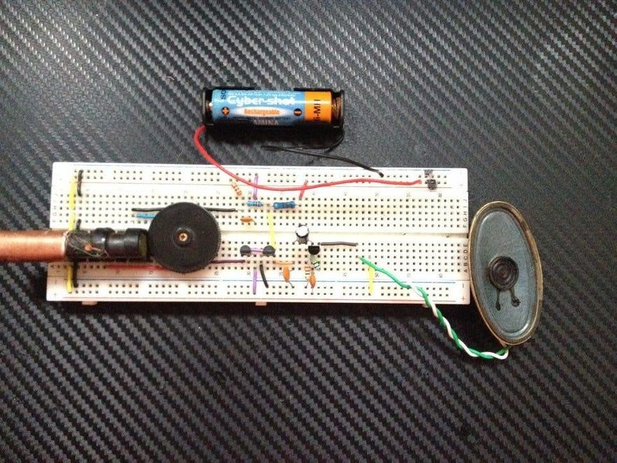 Picture Of Prototipe In Protoboard Radio Electronic Engineering How To Make