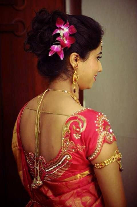 Indian bride s reception  hairstyle  styled by Swank Studio