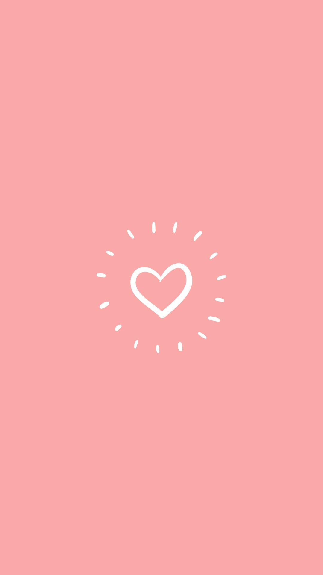 Pink Instagram Story Highlight Cover Heart Love Fotografi Abstrak Foto Sampul Abstrak
