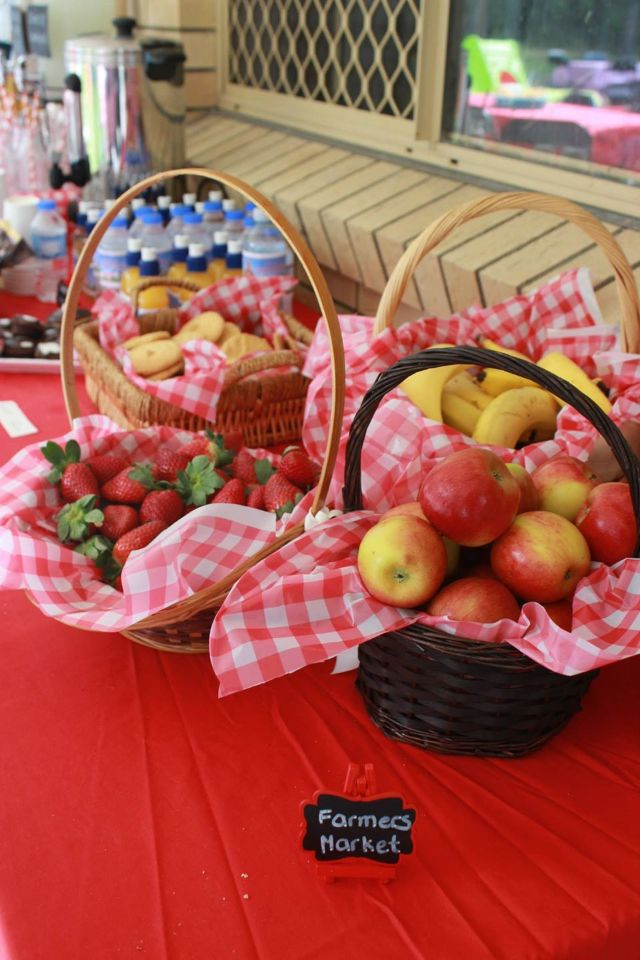 Farmers market fruit basket for my sons country themed ...