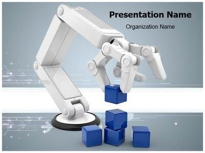 artificial intelligence ppt template free download robot powerpoint