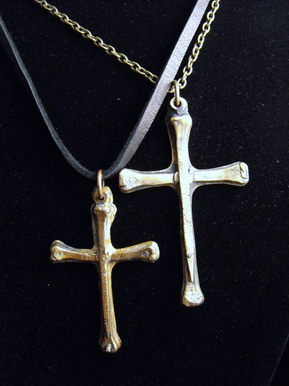 Bronze cross necklace by modernaccessories on Etsy, $40.00