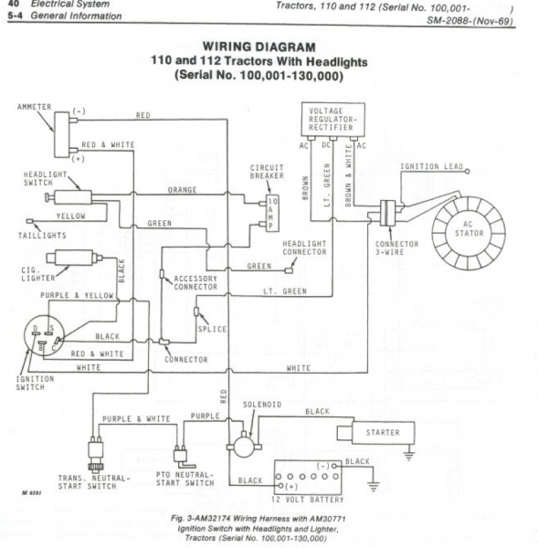 John Deere 110 Wiring Harness - Wiring Diagram Srconds on