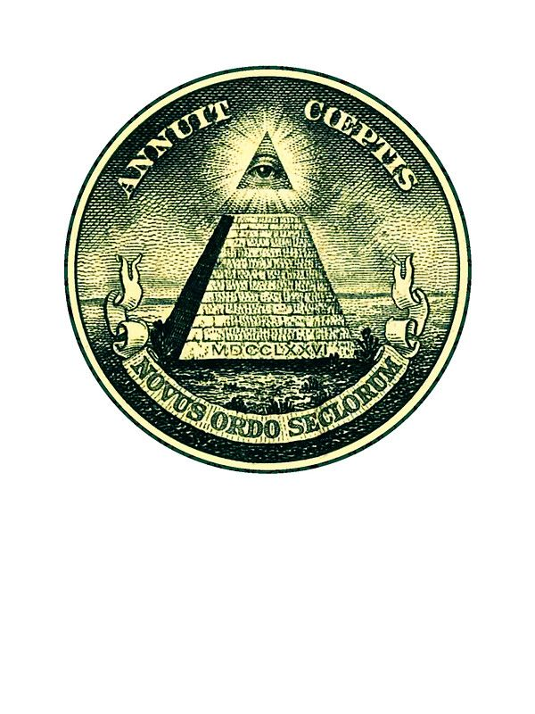 All Seeing Eye Pyramid Dollar Freemason God Sticker By Anne