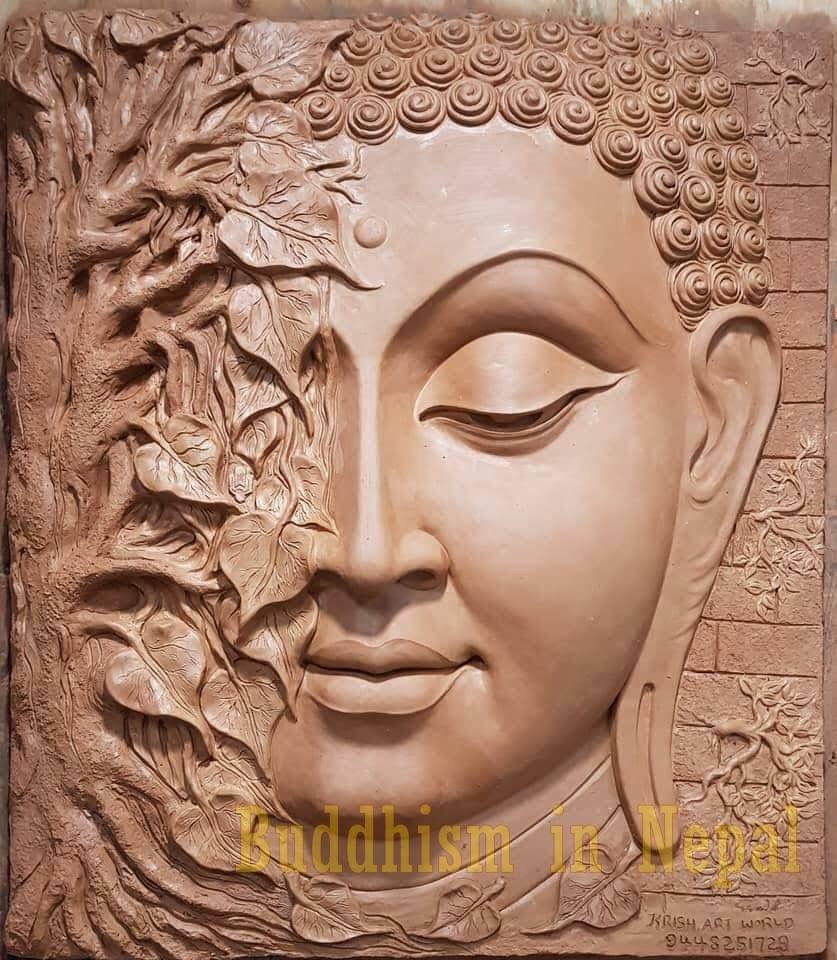 Pin By Mỹ Thuật Hồ Kinh On Buddha Paintings Buddha Art Painting Buddha Wall Art Buddhist Art