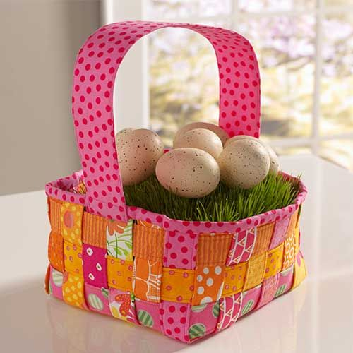 Woven easter basket sewing pinterest easter baskets easter woven easter basket free pattern sewn with coats dual duty xp sewing thread negle Gallery
