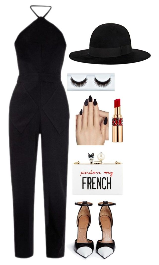 Untitled #304 by ambere3love34 on Polyvore featuring Balenciaga, Givenchy, Cecilia Ma, Yves Saint Laurent and Static Nails