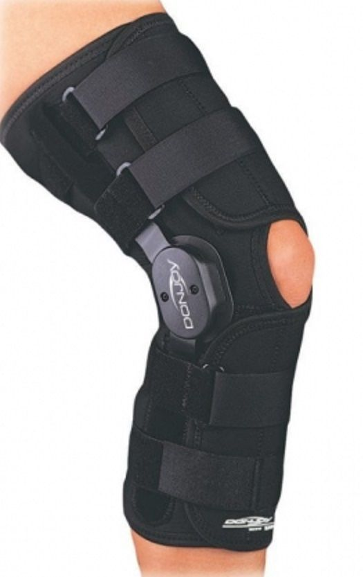 a97ea653ce Donjoy 11-0558 1-0600 XS Playmaker Hinged Knee Brace Support Open Back  Drytex #DonJoy