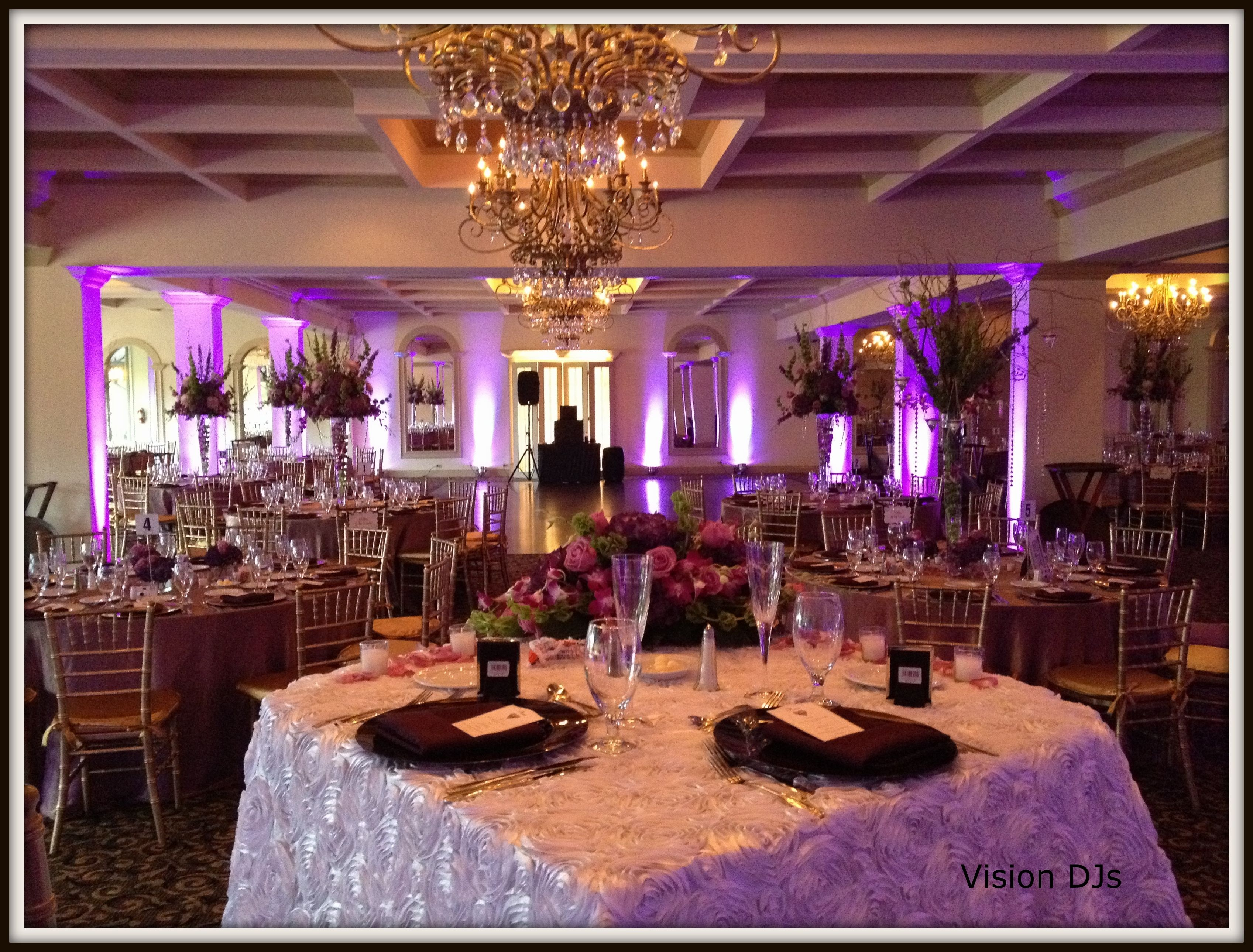 Light Purple Led Uplighting At Hillcrest Country Club Hollywood Florida
