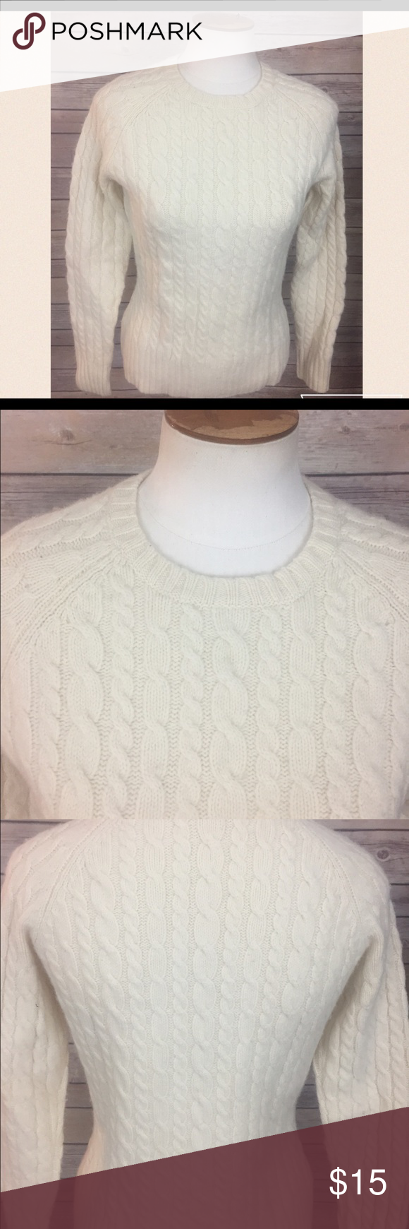 Gap Stretch Cream Cable Knit Sweater. Size Small BRAND: GAP ...