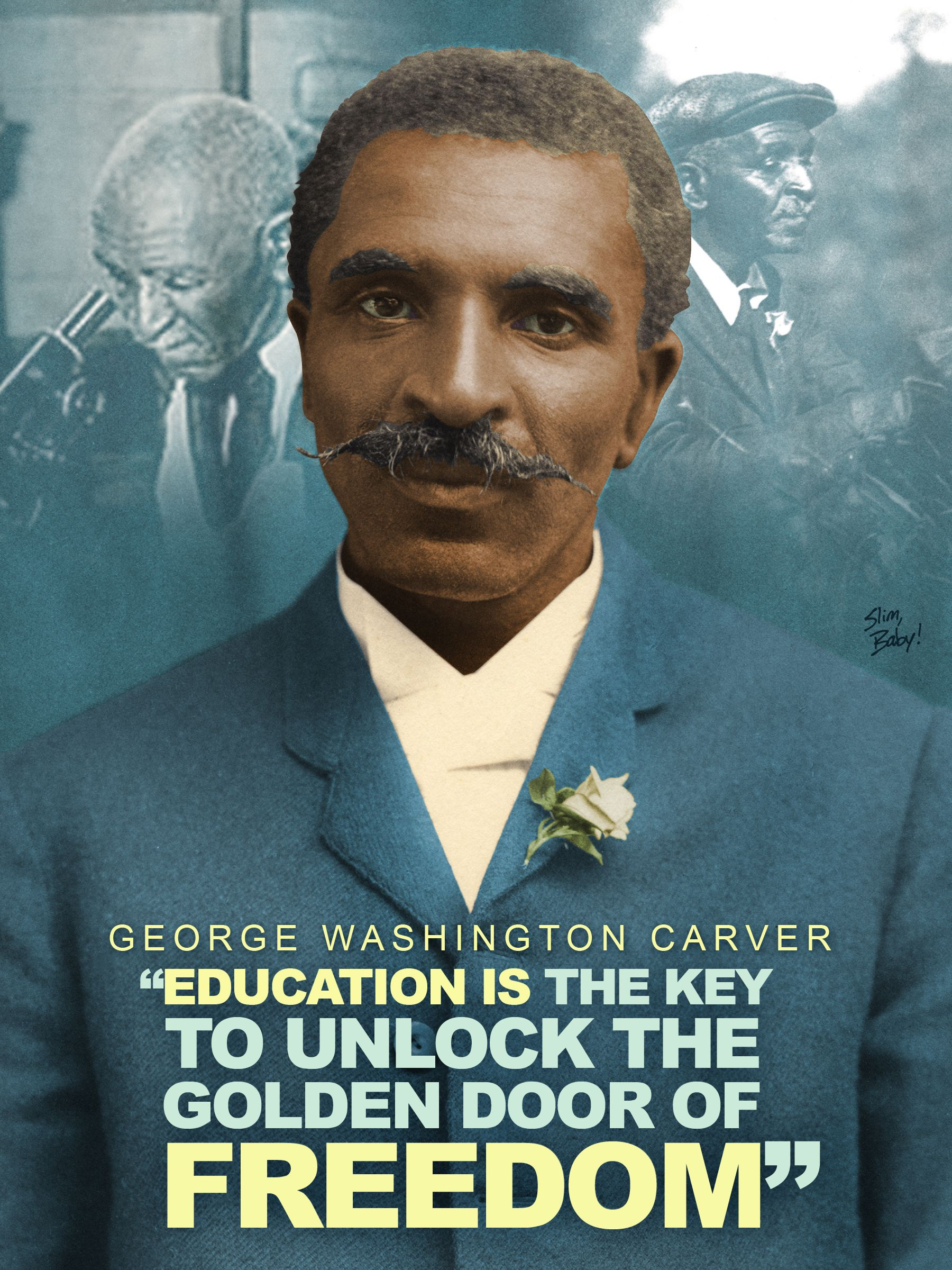 George Washington Carver Blackhistorymonth Tribute Design