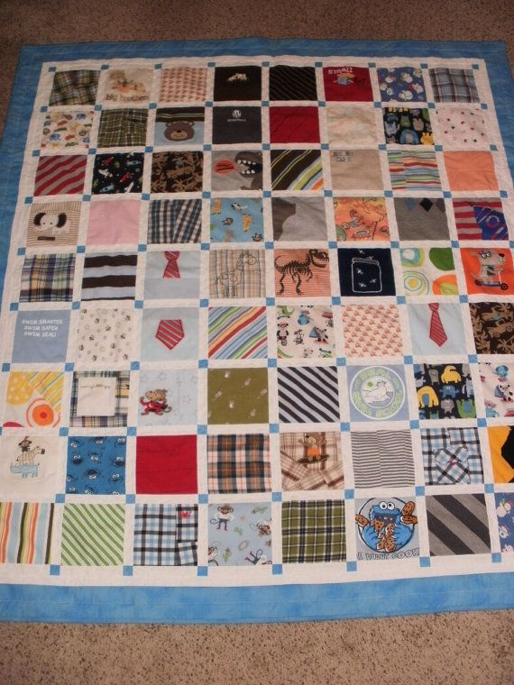 Baby clothes quilt custom made for Sarah by RobinSewCrazy on Etsy ... : custom baby quilts - Adamdwight.com