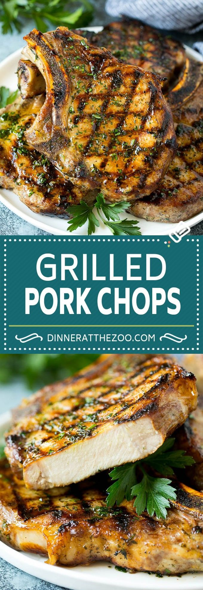 Grilled Pork Chops - Dinner at the Zoo