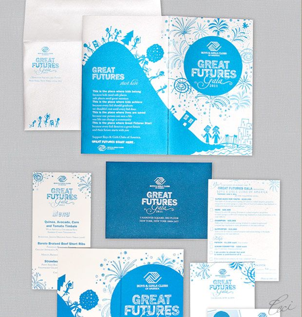 Boys and Girls Clubs of America Great Futures Gala Invitations – Event Invitations