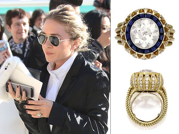 Our Favorite Ring To Date Mary Kate Olsen S Stunning Vintage