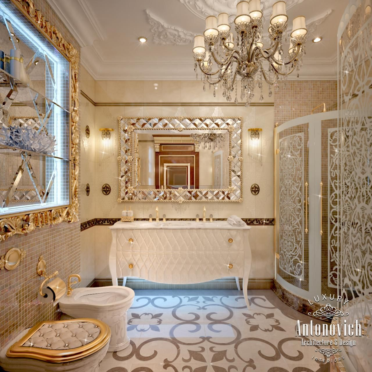 Bathroom design in dubai luxury bathroom interior photo for One agency interior design dubai