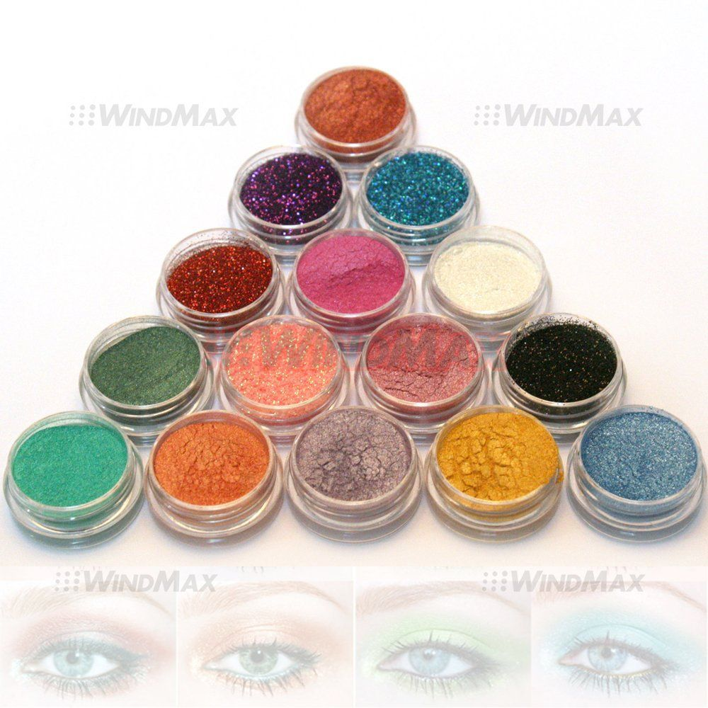 US Seller 15 Warm Color Glitter Shimmer Pearl Loose