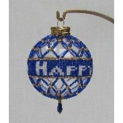 Hand Made Beaded Hanukkah Ornament Is Truly Something Unique And Special The Royal Blue Beads Weave A Magic Arou Hanukkah Decorations Ornaments Happy Hanukkah