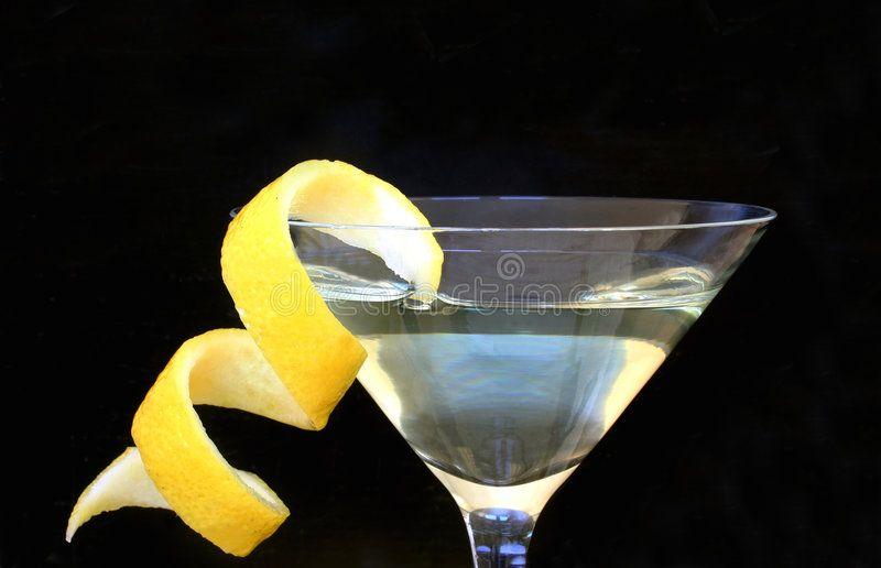 Citrus Twist. Cocktail with twist of lemon ,