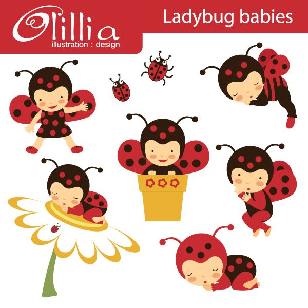 Ladybug babies - cute little lady bugs for crafts and creative ...