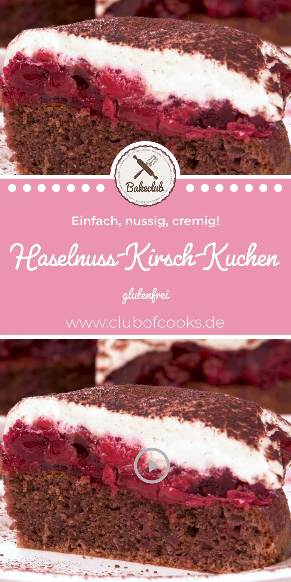 Haselnuss-Kirsch-Kuchen (glutenfrei) | BakeClub
