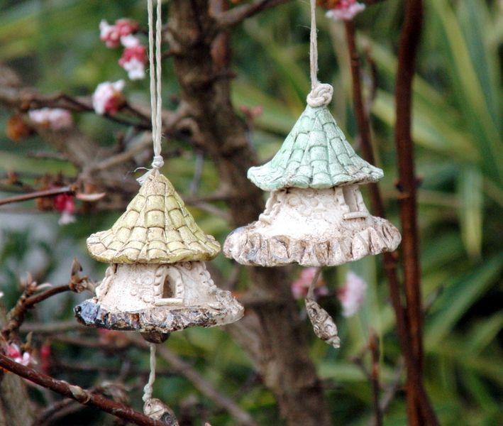 keramik glocken windspiel von nandomo kleine welten aus ton auf kleine welten aus. Black Bedroom Furniture Sets. Home Design Ideas