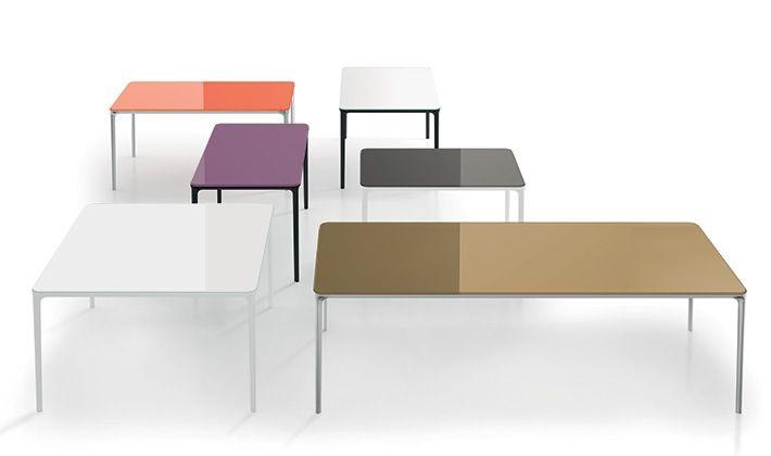 Tavoli Di Plastica Quadrati.Sovertitalia Tavoli In Vetro Serie Slim 8 Tavolino Da Caffe