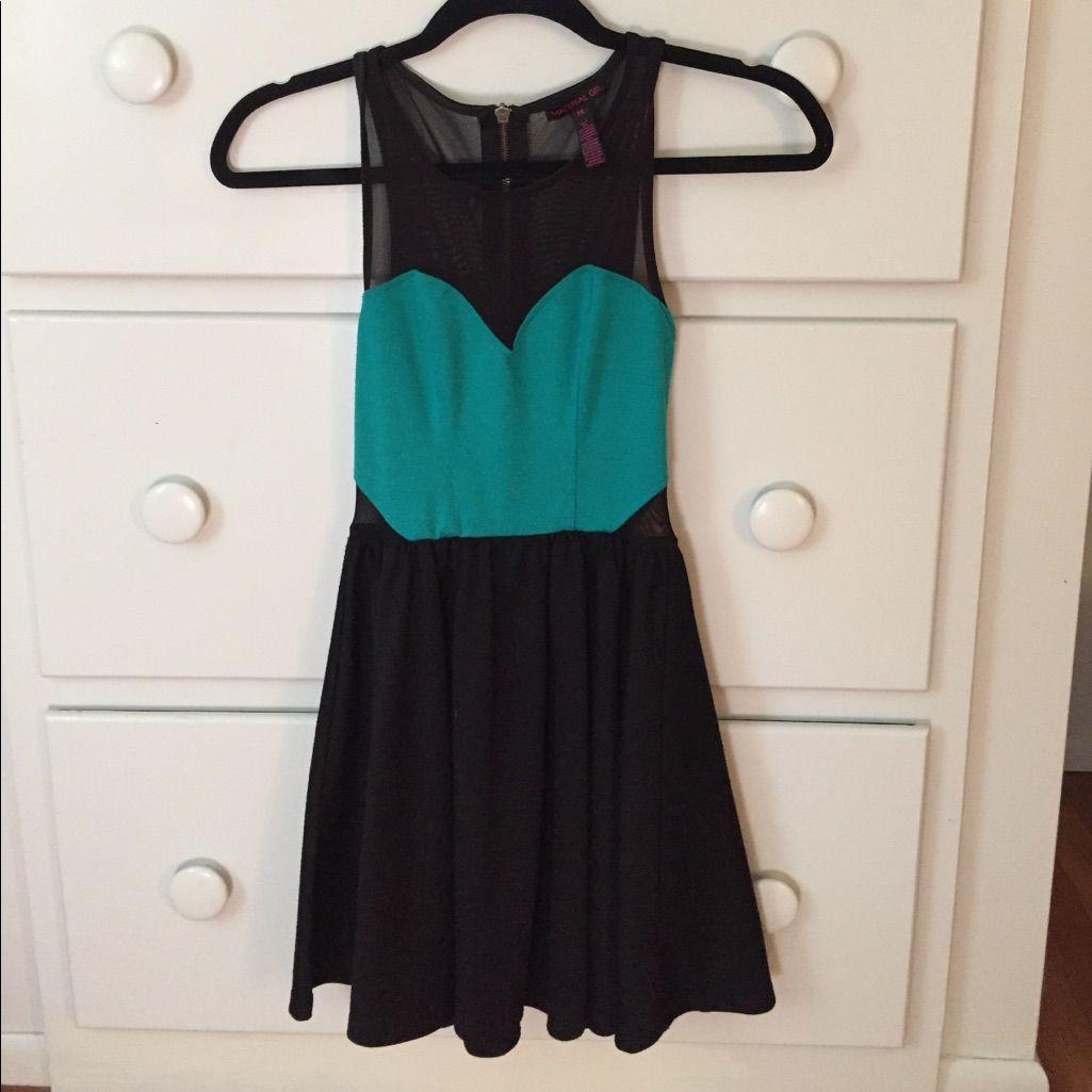 Super cute mint green black mesh dress products