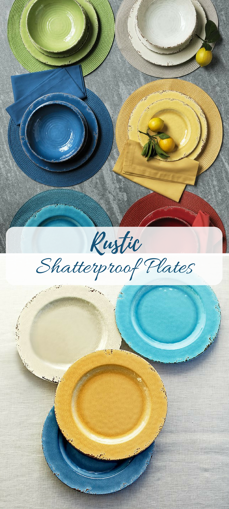 I LOVE the rustic look of these and the practicality of melamine shatterproof plates! #farmhouse #ad & I LOVE the rustic look of these and the practicality of melamine ...