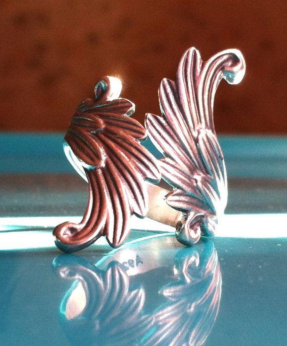 Sterling Silver Angel Wings Ring Size 6 1/2 Vintage 925 Fairy Wings