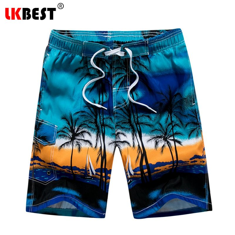 702abce42834a4 LKBEST Fashion Summer Men's board shorts Casual loose Beach shorts quick  dry men swimwear shorts plus size 1701
