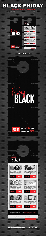 Black Friday Door Hanger V Door Hanger Template Hanger And Black - Door hanger photoshop template